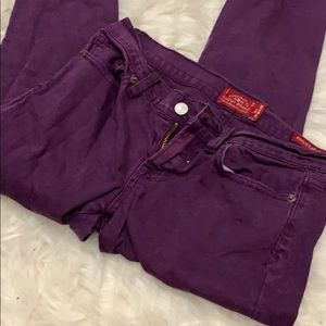 Lucky brand Charlie super skinny purple jeans